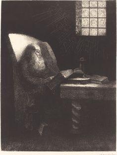 Le Liseur, 1892, Odilon Redon https://uk.pinterest.com/Piratedutemps/20-r-odilon-redon-1840-1916-symbolisme/