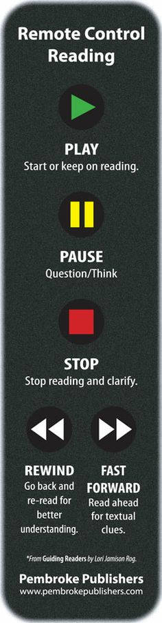 Help guide readers with this Remote Control Reading bookmark. *Copies Available!*