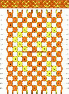 Normal Friendship Bracelet Pattern #6607 - BraceletBook.com