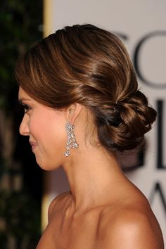 Recogidos elaborados para el día de tu boda inspirados en celebrities: Jessica Alba