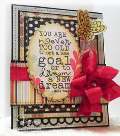 Card by Betty Wright using Words of Wisdom and So Fluttery from Verve Stamps.  #vervestamps