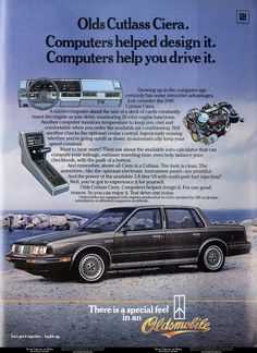 1985 Olds Cutlass Ciera. Vintage Cars, Antique Cars, Computer Help, Oldsmobile Cutlass, Car Advertising, Deck Of Cards, My Ride, Print Ads, Super Funny