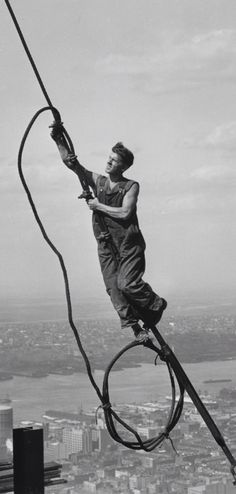 Icarus, Empire State Building construction, 1930 by Lewis Hine