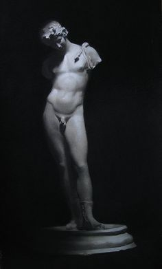 : Cast drawing, charcoal and white chalk. 2009.