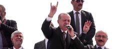 Ο εκλεκτός των λαμογιών, Ερντογάν κάνει το σήμα τον Γκρίζων λύκων ενώ ο γκρίζος λύκος δίπλα κάνει το σήμα των ισλαμοφασιστών. « olympia.gr