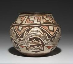 Treadway/Toomey Gallery Native American pottery, baskets and clothing. It's interesting to see these items and how their geometric abstractions meld well with the designs and motifs found