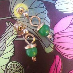 Erring green chrysoprase #wirewrap #jewerly #earrings #wirewrapped #wirework #green #chysoprase #wiregalaxy #wiregalaxy #bohoearring #fashion #instajewelry #etsyfinds #artisan #crafts