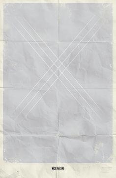 Cartaz minimalista do Wolverine por Marko Manev.