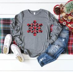 Womens Christmas shirt Snowflake christmas shirt Christmas shirts Womens shirt Christmas movies shirt Holiday Holidays Gift for her - Vinyl Shirt - Ideas of Vinyl Shirt - Etsy Shopping Cart Christmas Shirts, Christmas Sweaters, Womens Christmas, Christmas Christmas, Christmas Movies, Christmas Clothes, Christmas Projects, Christmas Outfits For Women, Christmas Long Sleeve Shirts
