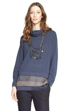 Fabiana Filippi Layered Hem Turtleneck Top available at #Nordstrom