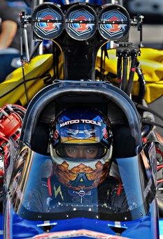 Antron Brown getting ready for his NHRA top fuel race at Memphis Motorsports Park.