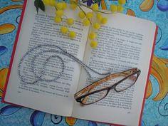 Catenina occhiali ematite e margheritine