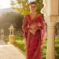 Are you in for a saree this wedding season? Fancy sarees with blouse designs that are stylish are enough to make you a showstopper at any occasion. This list of sarees will guide you on how to wear it right! Sabyasachi Lehenga Bridal, Anarkali, Bollywood Saree, Lehenga Choli, Traditional Indian Jewellery, Organza Saree, Net Saree, Bride Sister, Saree Trends