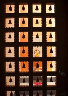 Puja room door design modern 27 new Ideas Temple Room, Mandir Design, Cabinet Medical, Pooja Mandir, Pooja Room Door Design, Indian Interiors, Temple Design, Puja Room, Indian Homes