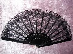 Black LACE hand fans :) I always said I was born in the wrong Era. I love victorian things
