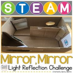 reflection and light: This Physical Science STEAM and STEM challenge provides a hands-on approach to understanding how reflection impacts sight! $4.50 Next Generation Science Standards, Force And Motion, Student Drawing, Informational Writing, Simple Machines, Stem Challenges, Stem Projects, Hands On Learning, Student Studying