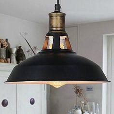 Buyee Vintage Industrial Edison Ceiling Light 1 Light Iron Body Metal Shade Loft Coffee Bar Kitchen Hanging Pendant Llight Lamp Shade Black Buyee http://www.amazon.co.uk/dp/B00RT9THOK/ref=cm_sw_r_pi_dp_Whktvb0M4WZJM