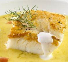 Sauteed Cod in a Fennel White Wine Saffron Sauce Fresh Fish From Downies Fish Scotland, Suppliers of Fresh Fish, Frozen Fish, Shellfish and Smoked Fish White Sauce Recipes, Cod Recipes, Greek Recipes, Fish Recipes, Seafood Recipes, Cooking Recipes, Cooking Time, Yummy Recipes, Recipies