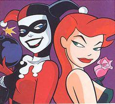 Big Harley Quinn and Poison Ivy Art Gallery Pop Art Litho Print Batman Poison Ivy, Dc Comics, Batman The Animated Series, Joker Animated, Fox Kids, Back In The 90s, Gotham Girls, Litho Print, Joker And Harley Quinn
