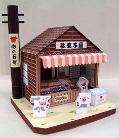 駄菓子屋ペーパークラフト完成写真