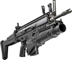 The SCAR®-H Assault Rifle equipped with CQC barrel and 40mm Grenade Launcher. The SCAR® system developed by FN Herstal has remained the first and only choice of United States Special Operations Command (USSOCOM).