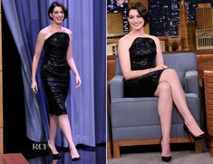 Anne Hathaway In Vivienne Westwood – The Tonight Show Starring Jimmy Fallon