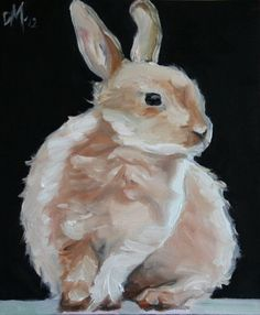 The magic Hare Rabbit bunny oil painting on canvas board fine art high quality