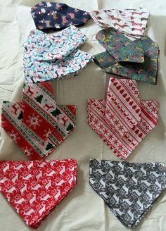 Christmas Dog Bandana - slip over collar style by LillianaDesignsUK on Etsy Slip Over, Collar Styles, Dog Bandana, Christmas Dog, Dog Accessories, Your Dog, Collars, Cotton Fabric, Sew