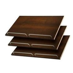 Martha Stewart Living, 24 in. Espresso Shoe Shelves (3 Pack), D6 at The Home Depot - Mobile