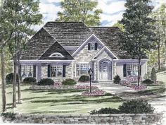 Ranch House Plan with 2466 Square Feet and 3 Bedrooms(s) from Dream Home Source   House Plan Code DHSW73564