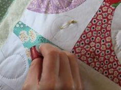 Hand Quilting 5 -- Stitching - YouTube