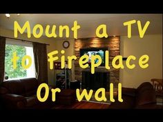 ▶ How to Mount Flatscreen TV over a fire place. - YouTube