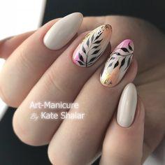 @art_manicure_kate_shalar - роспись гель-лаком от руки Roxy 051 - Фарфор ●○●○● Лучшие мастер-классы ➡️ @nails_by_steps ●○●○●…