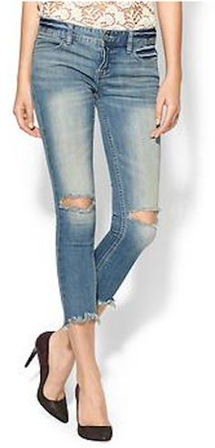 Free People - Mid Rise Destroyed Ankle Skinny $59 with code:  TICKTOCK http://rstyle.me/n/iypghnyg6