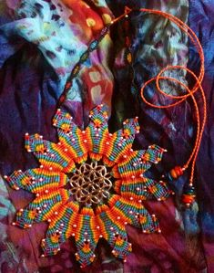 Flower of life chakra macrame mandala...the bigger, the brighter = the better!!! Love my newest creation ;)