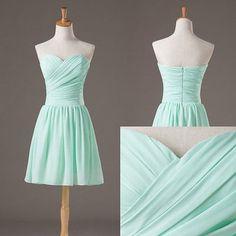 A273 pretty simple mini baby blue sweetheart chiffon bridesmaid dresses short prom dresses bridesmaid dresses formal dresses