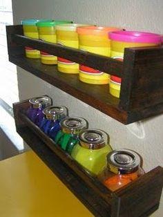 40 ways to organize with an Ikea Spice Rack - A girl and a glue gun Easy Garage Storage, Kids Storage, Toy Storage, Craft Storage, Playroom Organization, Organization Hacks, Playroom Ideas, Kid Playroom, Organizing Crafts
