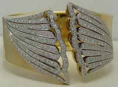 5.31 CARAT DIAMOND CUFF BRACELET 18K. #Cuff