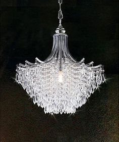Add sparkle to your room with this silver crystal chandelier. This shimmering hanging fixture is accented with dripping clear crystal embellishments. This single-light fixture is just 14 inches wi Chandelier Lighting Fixtures, Bedroom Light Fixtures, Chandelier Bedroom, Chandelier Lamp, Bedroom Lighting, Flower Chandelier, Silver Chandelier, Garden Lighting Diy, Elegant Chandeliers