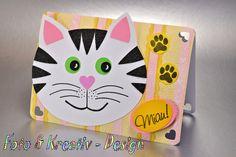 Einladungskarten - Katze - Einladungskarte - Kindergeburtstag - ein…
