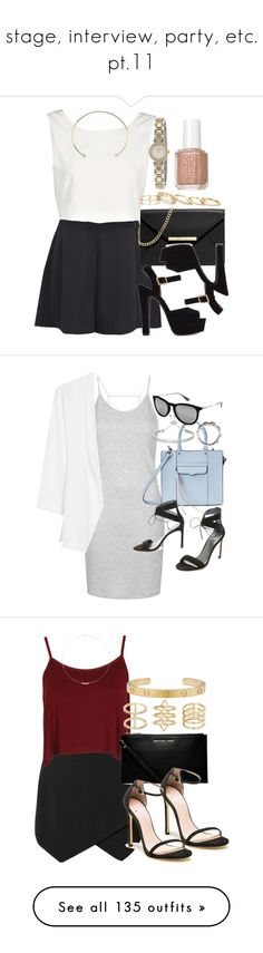 """stage, interview, party, etc. pt.11"" by glitter-the-world ❤ liked on Polyvore featuring Boohoo, MICHAEL Michael Kors, Steve Madden, Isabel Marant, Kendra Scott, Kate Spade, Essie, Topshop, MANGO and Rebecca Minkoff"