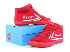 Feiyue DELTA MID Sneakers, Feiyue Red Canvas Shoes @ http://www.icnbuys.com/feiyue-delta-mid