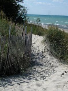 Indiana Dunes National Lakeshore - southern Lake Michigan.  As close to an ocean experience as you can get inland.  Plus, over 45 miles of rugged dune trails to explore!