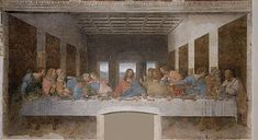 The Last Supper is a late mural painting by Leonardo da Vinci in the refectory of the Convent of Santa Maria delle Grazie, Milan. (by Leonardo Da Vinci) Renaissance Kunst, Italian Renaissance, Renaissance Paintings, Renaissance Artists, Renaissance Time, Michelangelo, The Last Supper Painting, Da Vinci Last Supper, Most Famous Paintings