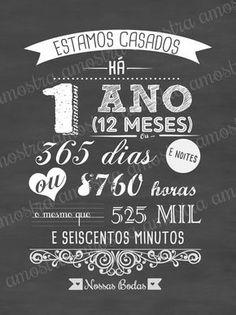 Ideas Aniversario, Chalk Lettering, 1st Anniversary, Chalkboard, Wedding Inspiration, Wedding Ideas, Marriage, Romance, Valentines
