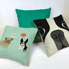 boston terrier decorative throw pillows/almofadas case for sofa car bed 45x45 cute dog cushion cover home decore Boston Terriers, Boston Terrier Love, Cat Cushion, Sofa Cushion Covers, Chair Covers, Throw Pillow Cases, Decorative Throw Pillows, Cover Pillow, Animal Throws