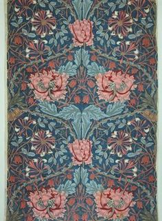 'A Shot of Rhythm and Colour: English Textile Design of the Late Century', at the Museum für angewandte Kunst (MAK), Vienna Until 13 October offers a representative survey of the MAK's major collection of European Arts & Crafts textiles Textiles, Textile Patterns, Textile Design, Print Patterns, Fabric Wallpaper, Of Wallpaper, Pattern Wallpaper, William Morris Patterns, William Morris Art