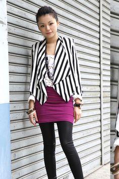 h striped blazer