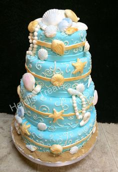 Under the Sea cake fondant sea shells