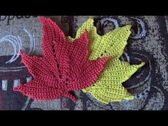 Кленовый лист Часть 3 The maple leaf Crochet Part 3 - YouTube